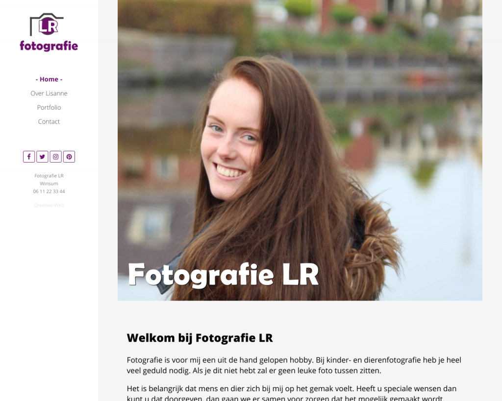 Fotografie LR: Een website met foto's in de focus